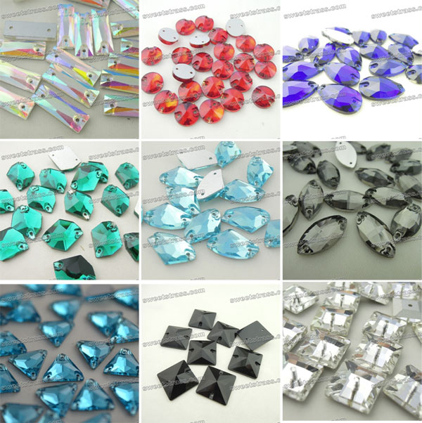 Wholesale Flatback Sew On Rhinestones For Dresses - Rectangle Crystals AB