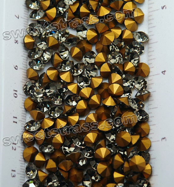 Loose Austria Crystals Wholesale Black Diamond SS35