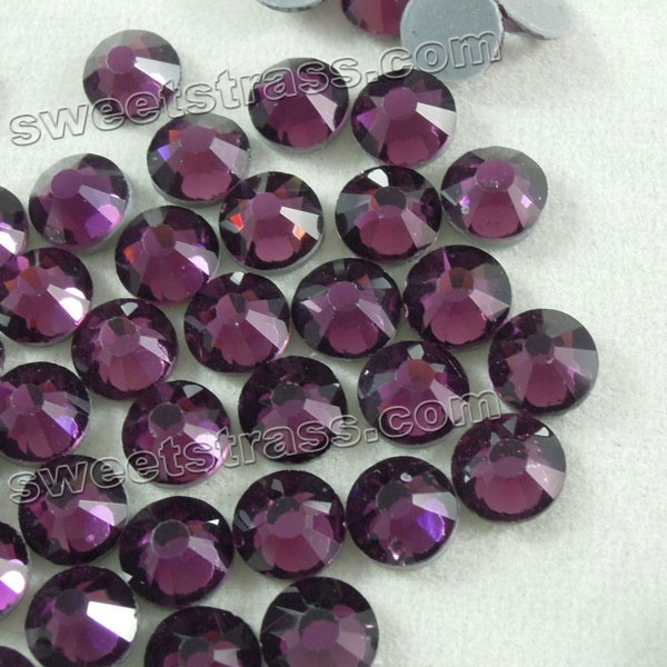 Iron On Rhinestones Wholesale DMC Hotfix Rhinestone Amethyst SS30