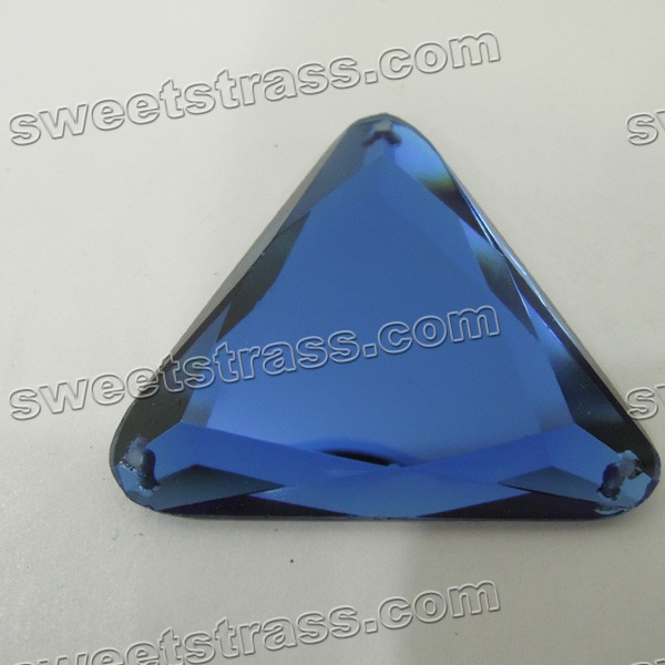 Fancy Flat Back Stones - Blue Triangle