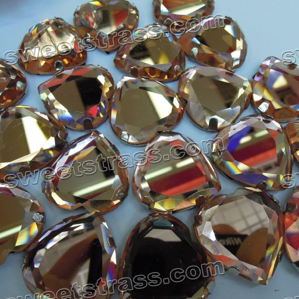 Wholesale Glass Rhinestones Sew On Settings Heart