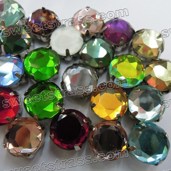 Glass Sew On Stones Rhinestone Montees Beads