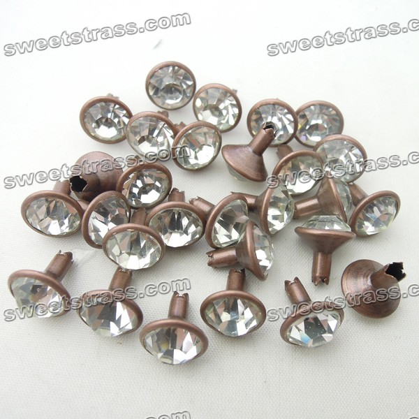 Rhinestone Crystal Rivet For Garment Bags Shose Leather