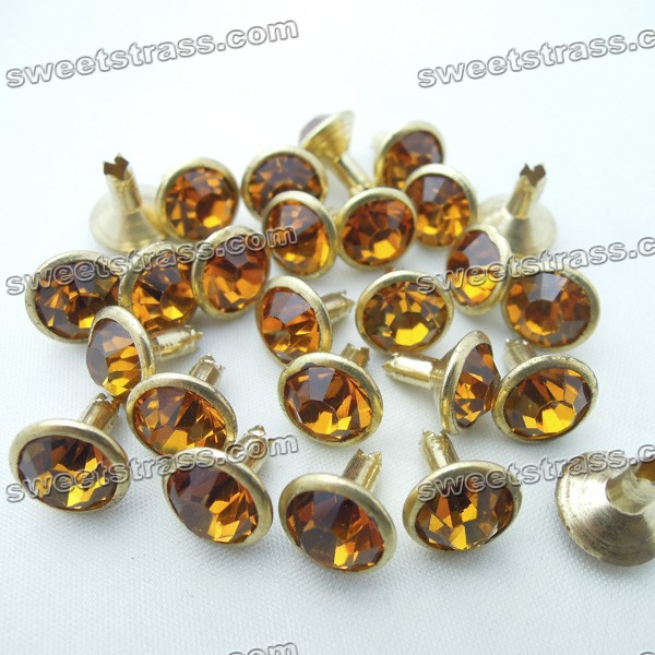 Glass Stone Rivets, Decorate Handbags - Smoked Topaz