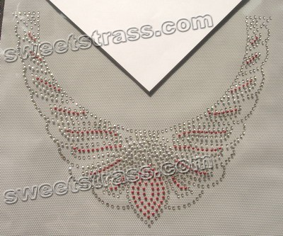 Custom Rhinestone Iron On Transfers - Collar Design