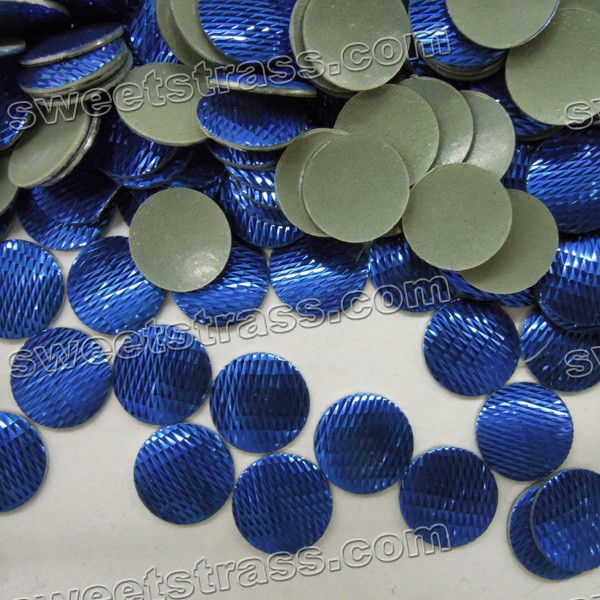 Iron On Nailhead Wholesale- Blue Round
