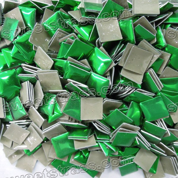 Wholesale Convex Shape Nailhead Transfer - Green Square