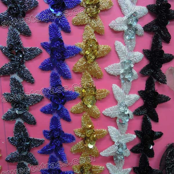 Custom Rhinestone Appliques Iron On Wholesale