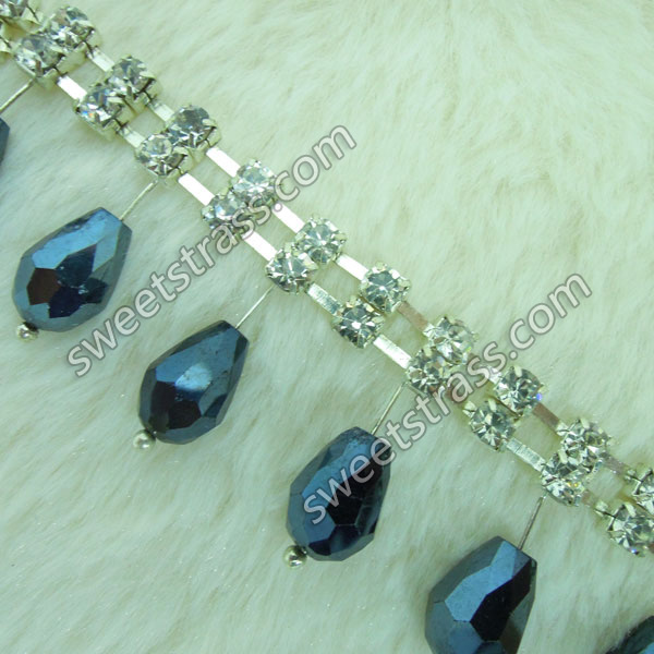 2015 New Rhinestone Beaded Trim Cup Chains Ribbon Wholesale