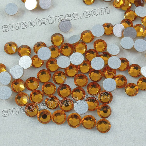 Non Hot Fix flat Back Rhinestones Crystals Topaz