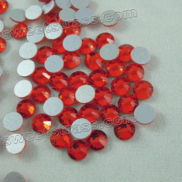 Non Hot Fix Flat Backed Rhinestones Crystals Siam
