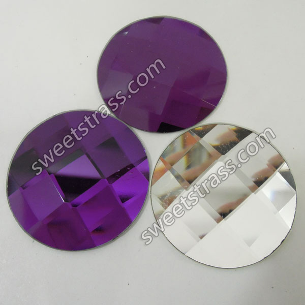 Faceted Shaped Purple Flatback Crystal Rhinestones Wholesale