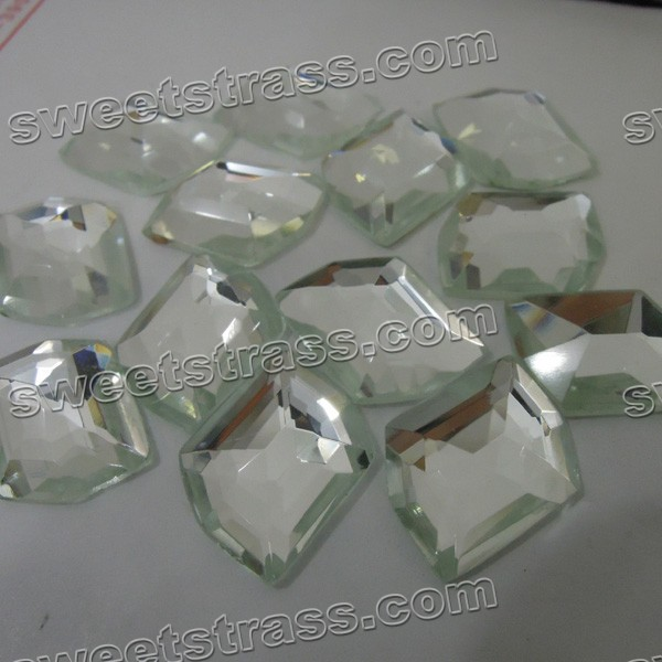 Faceted Fancy Shaped Clear Flatback Glass Stones Wholesale