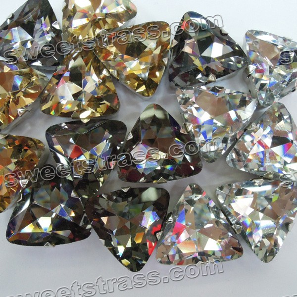 Wholesale Sew On Triangle Crystals Rhinestones With Prong