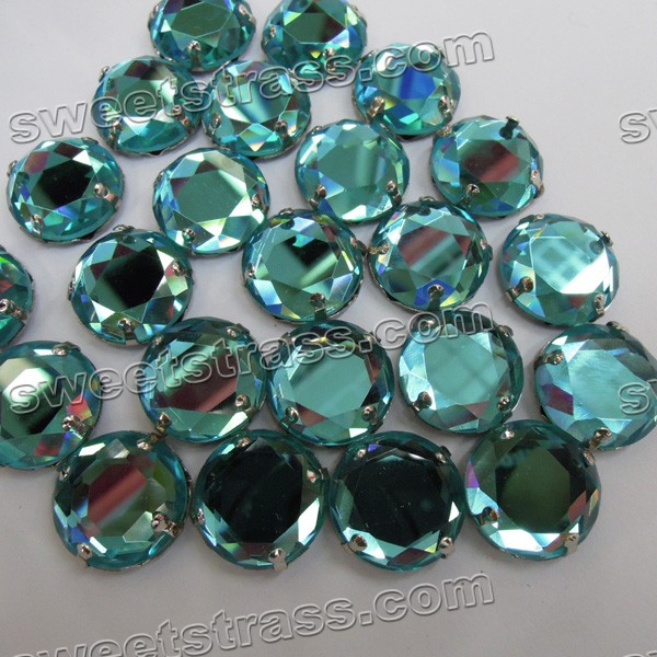 Wholesale Sew On Round Faceted Stone Jewels With Prong