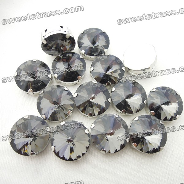 Wholesale Sew On Glass Rivoli Crystal Jewels In Setting