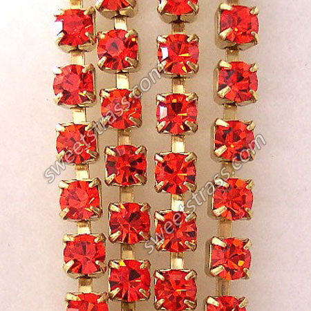 Hyacinth Strass Rhinestone Cup Chain By The Yard Wholesale
