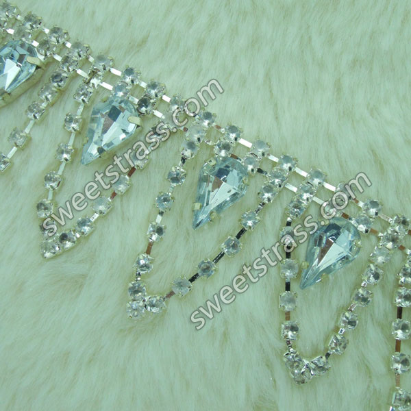 Wholesale Rhinestone Crystals Chain Trim Jewelry