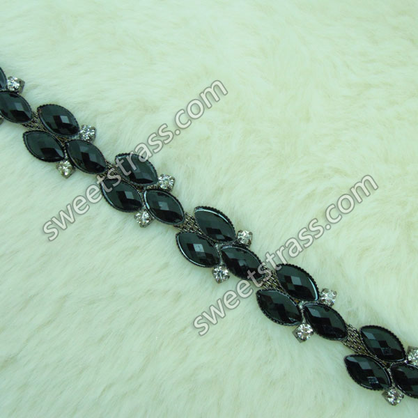Wholesale Glass Rhinestone Jewelry Cup Chain Trim