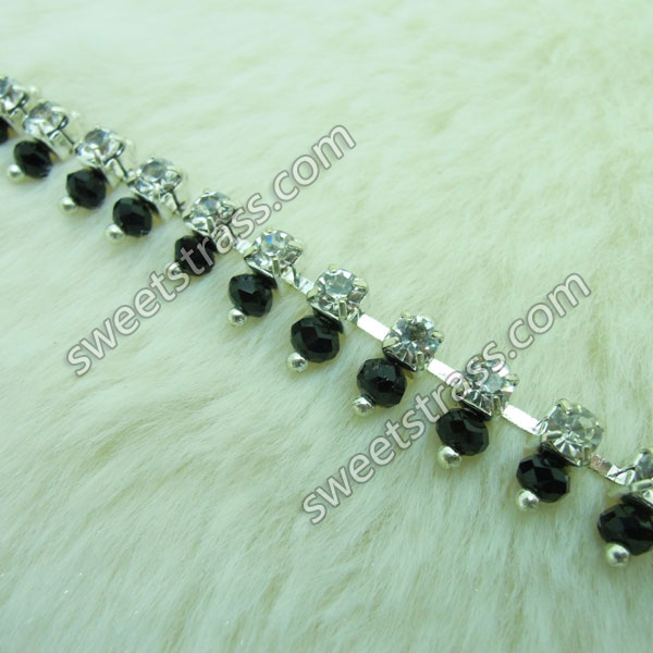 Bead And Rhinestone Chain Trim Jewelry Wholesale
