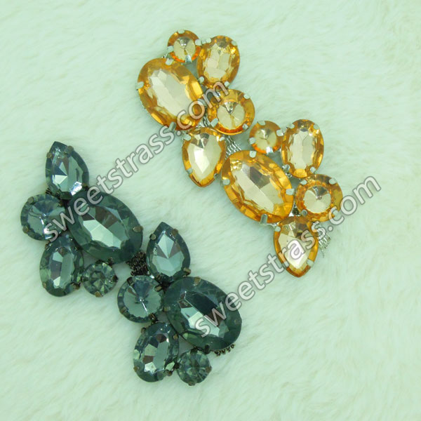 Faceted Crystal Stone Chain Trim Jewelry Wholesale