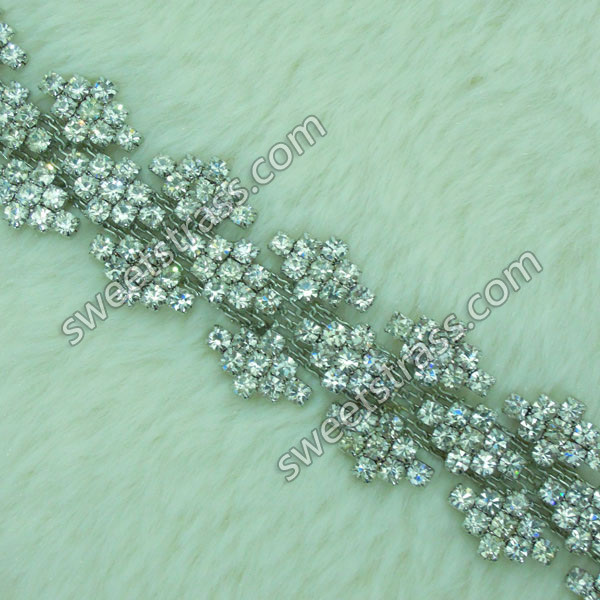 Wholesale Crystal Stone Jewelry Chain Trim For Garment