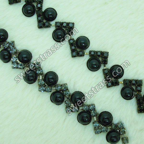 <b>Shoes Accessory Pear Crystal Rhinestone Chain Trim Wholesale</b>