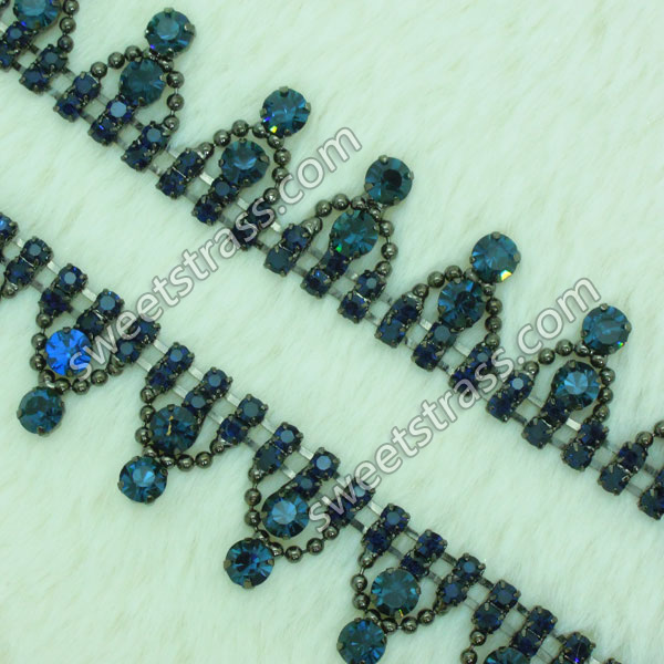 <b>Shoes Blue Strass Rhinestone Chain Trim Jewelry Wholesale</b>