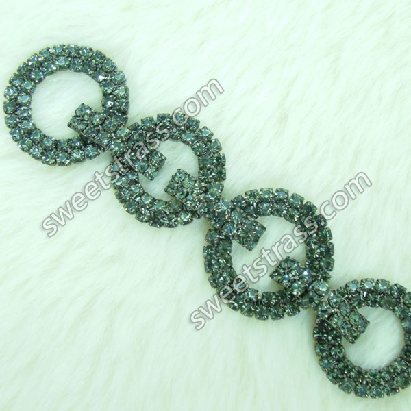 Wholesale Crystal Rhinestone link Chain Trim Jewelry