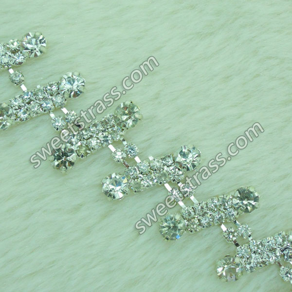 Wholesale Silver Crystal Rhinestone Cup Chain Trim Jewelry