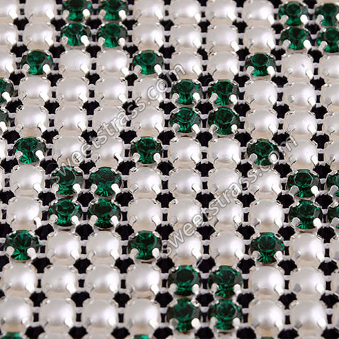 Wholesale 24 Rows Ribbon Diamond Rhinestone Crystal Mesh Banding