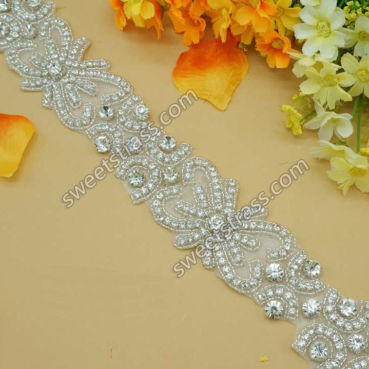 2015 Fashion Bling Decorative Rhinestone Trimming For Dress