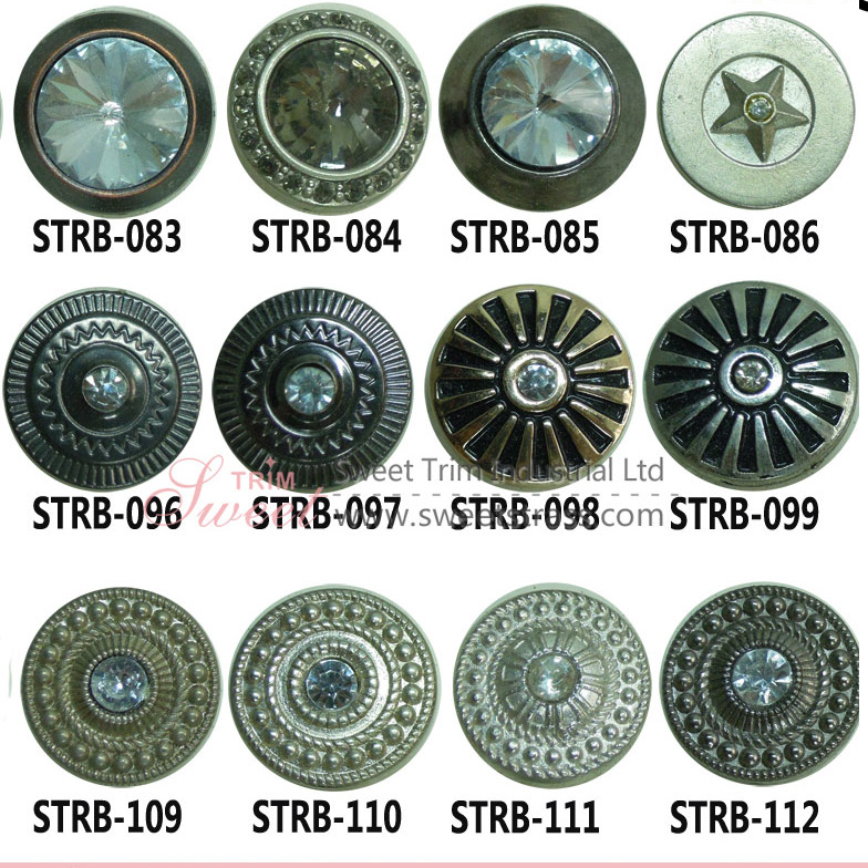 Wholesale Zinc Alloy Jeans Buttons With Rhinestone
