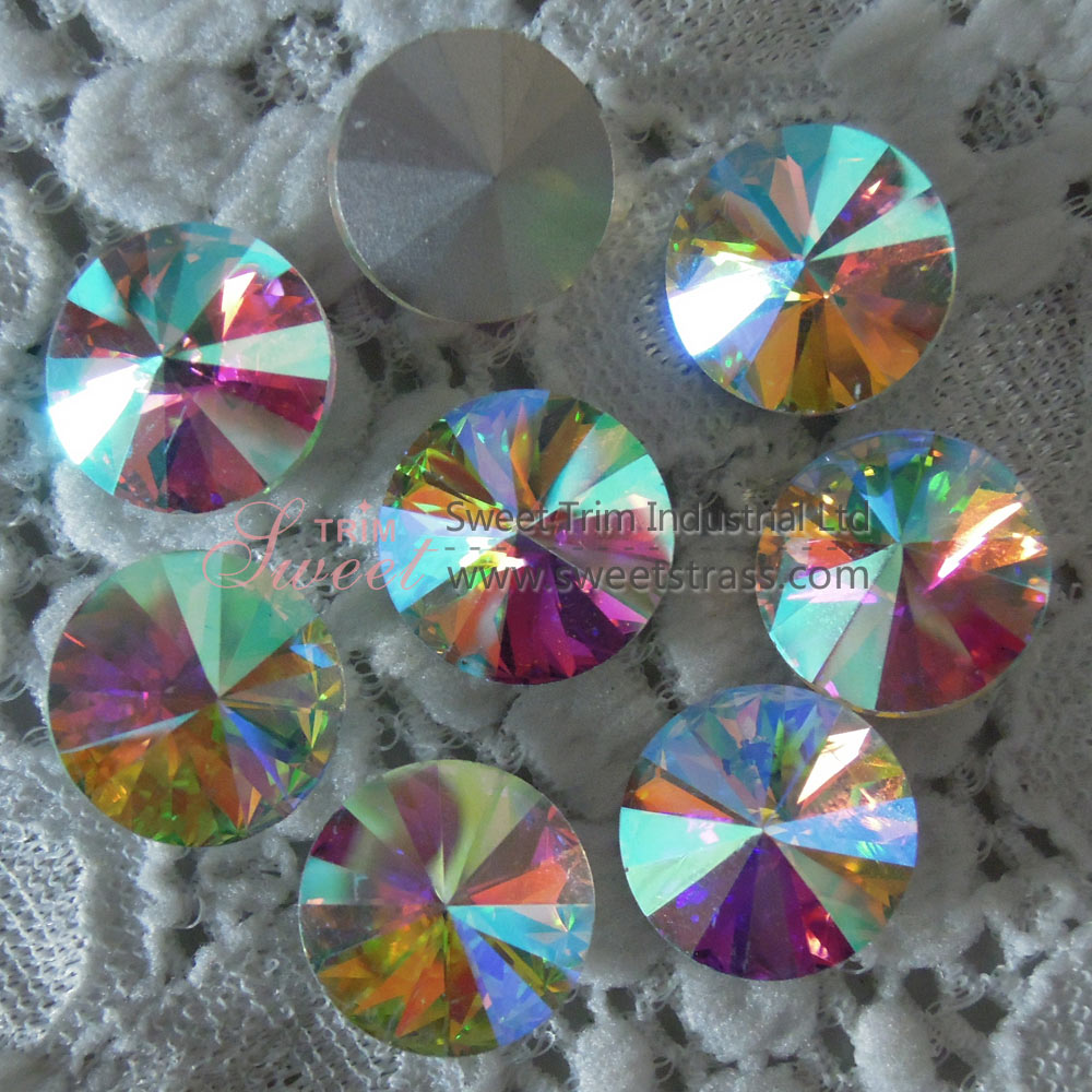 <b>Silver Base Sew On Fancy Glass Crystal Stone Rivoli Wholesale</b>
