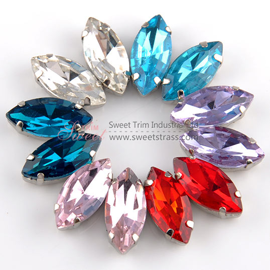 <b>Fancy Sew On Crystal Rhinestones,Strass Stone In Settings Wholesale</b>