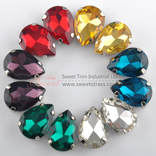 <b>Wholesale Fancy Sewing Glass Stone,Crystal Rhinestones In Settings</b>