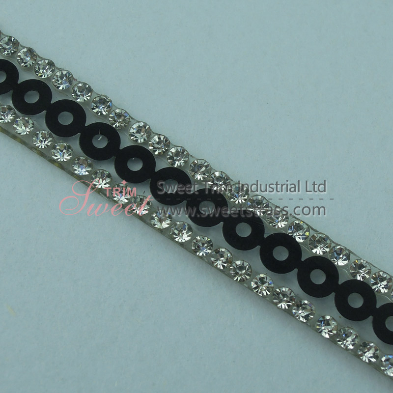 Wholesale Shoes Accessory Strass Rhinestone Banding Trim With Glue