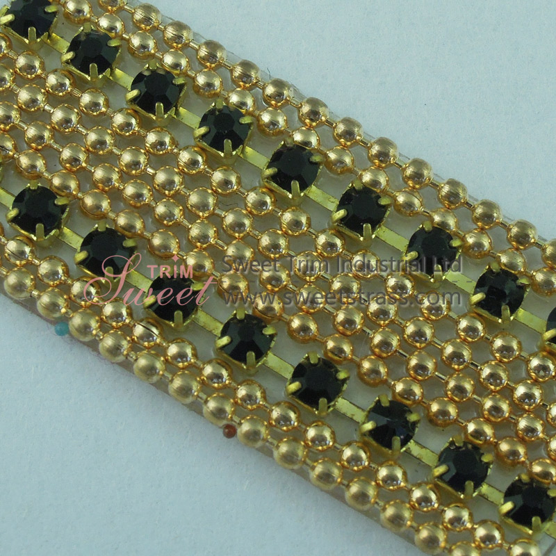 Iron On Adhesive Rhinestone Cup Chain Sheet Trim Wholesale