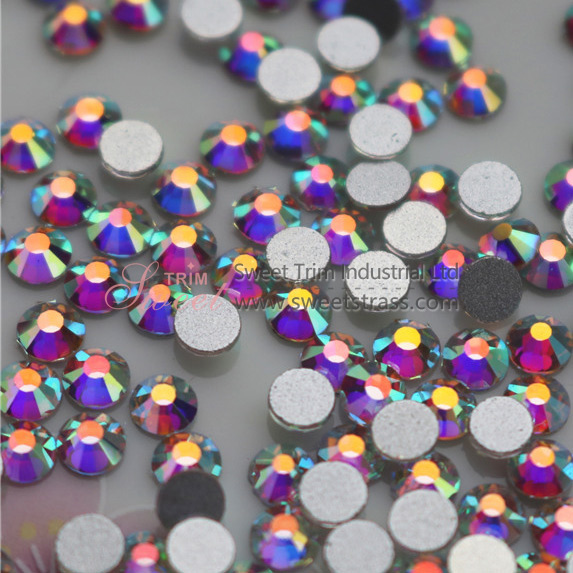<b>Wholesale Flatback Non Hot Fix Rhinestone Crystal AB ss3-ss40</b>