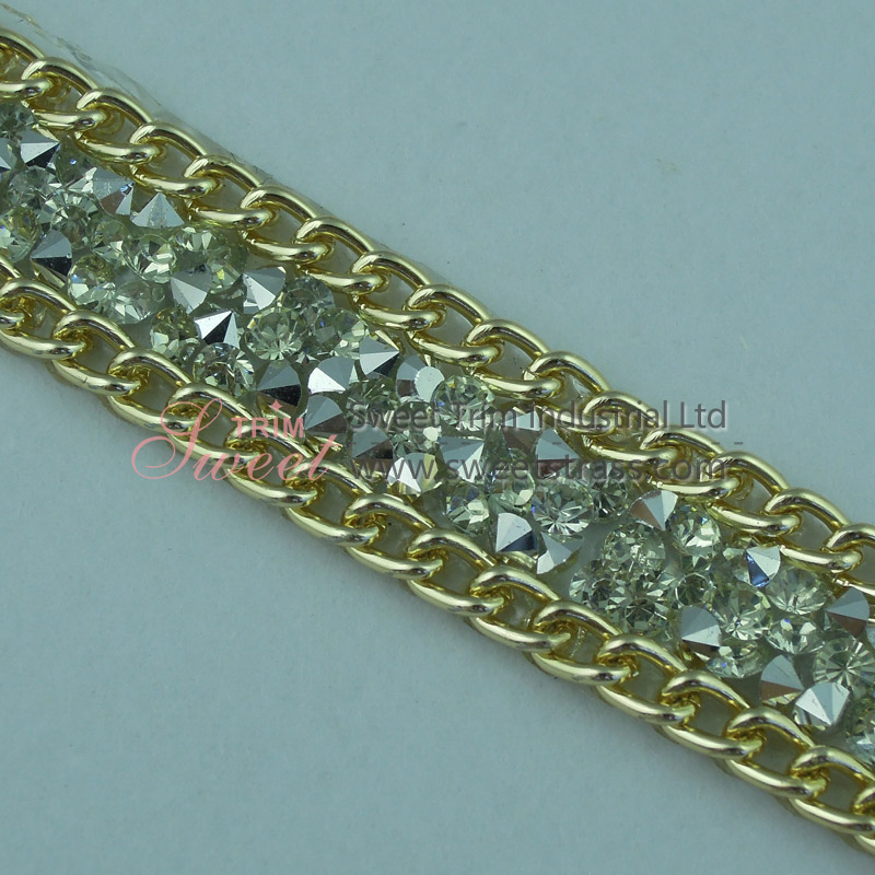 Hot Fix Resin Chaton And Chains By The Yards For Shoes Wholesale