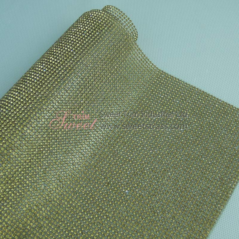 108*180 Hot Fix Rhinestone Strass Sheet Lt Topaz