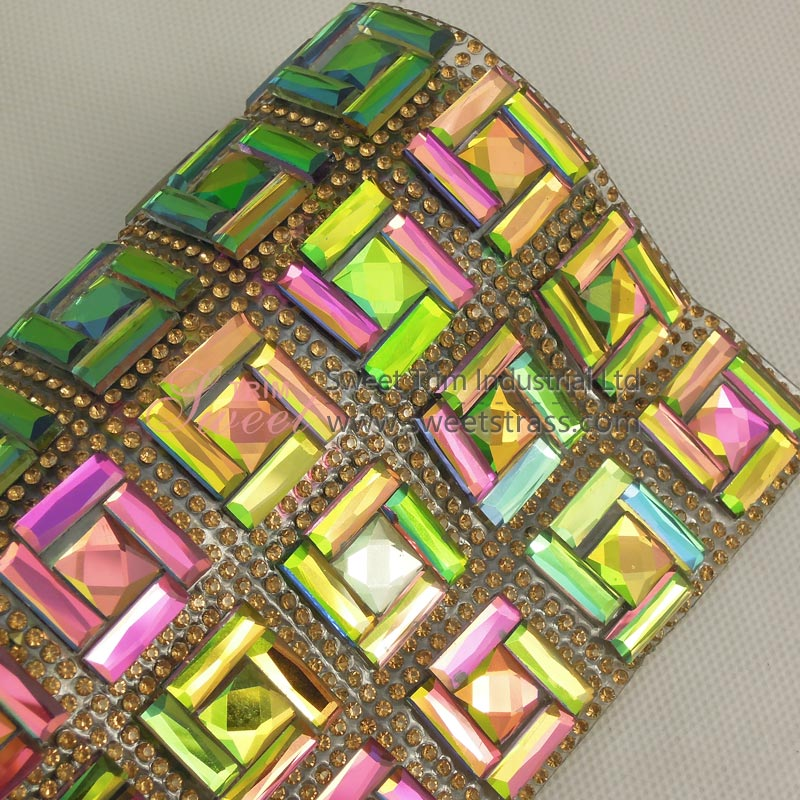 Wholesale Colorful Rhinestone Strass Hot Fix Trim