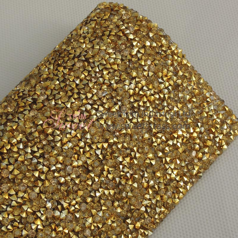 Hotfix Gold Base Topaz Resin Stone Sheet Sticker