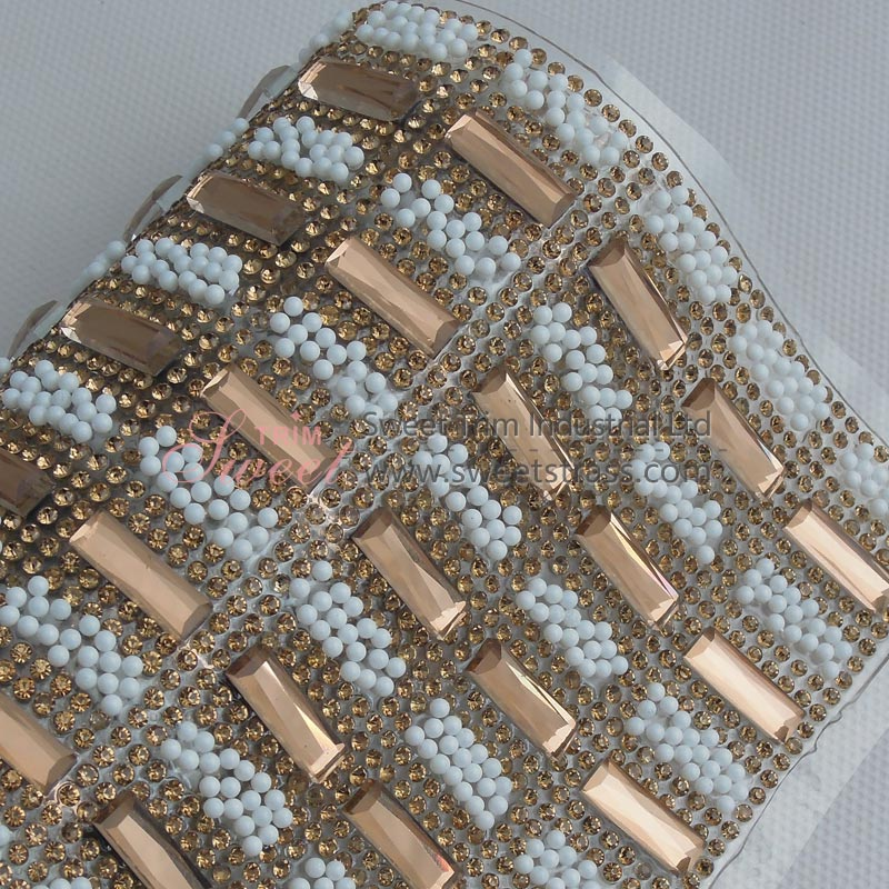 Glass Crystal Hot Fix Mesh Stiker Wholesale