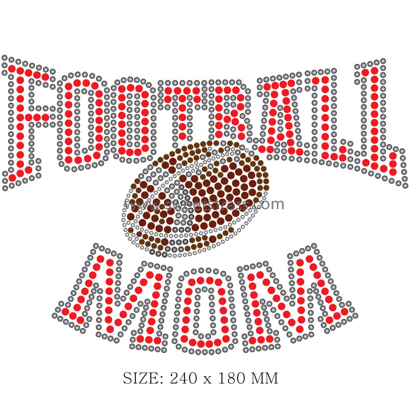 <b>Football Motif Iron on Strass Transfer Designs</b>