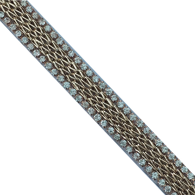 Factory wholesale diamond chain and rope iron on strip