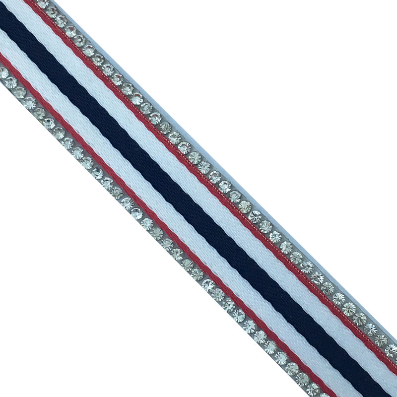 factory wholesale 1.4 cmbanding with diamond strass hotfix strip by the yard