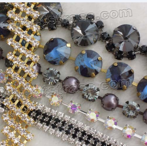 Shoes Rhinestone Chain Trimming Wholesale