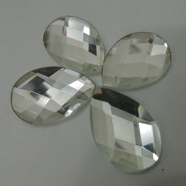 Faceted Tear Drop Shaped Clear Flatback Crystal Rhinestones Wholesale
