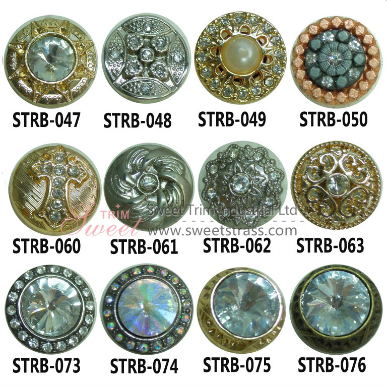 Shank Jeans Rhineston+Zinc Alloy Move Buttons